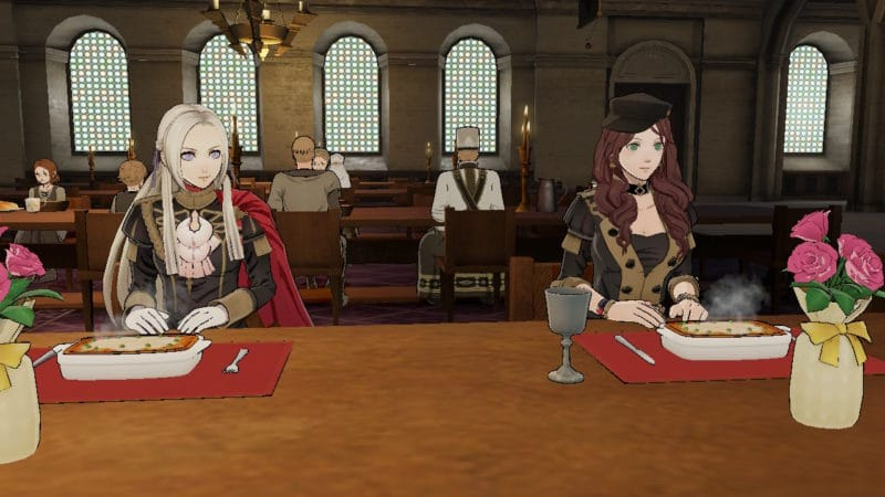 Fire Emblem: Three Houses - réfectoire