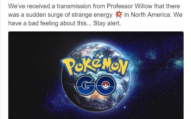 Pokémon GO - Twitter étrange énergie