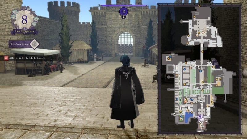 Test Fire Emblem: Three Houses - Carte du monastère