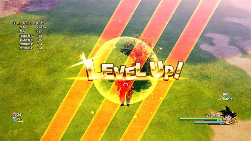 Dragon Ball Kakarot level up