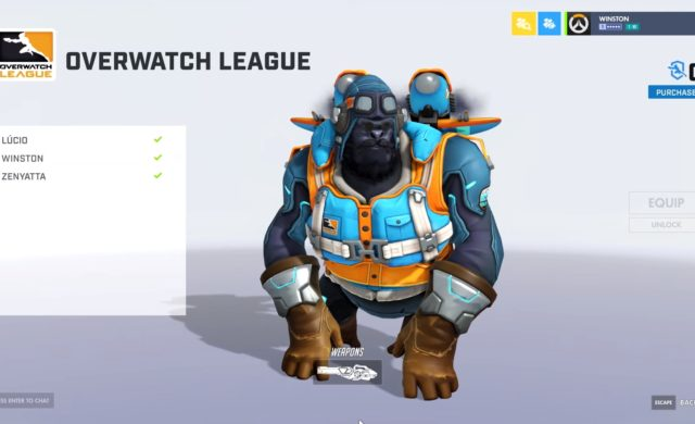Overwatch Winston flying ace