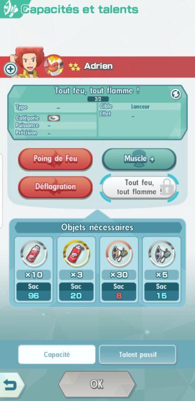 Pokémon Masters - Débloquer attaques