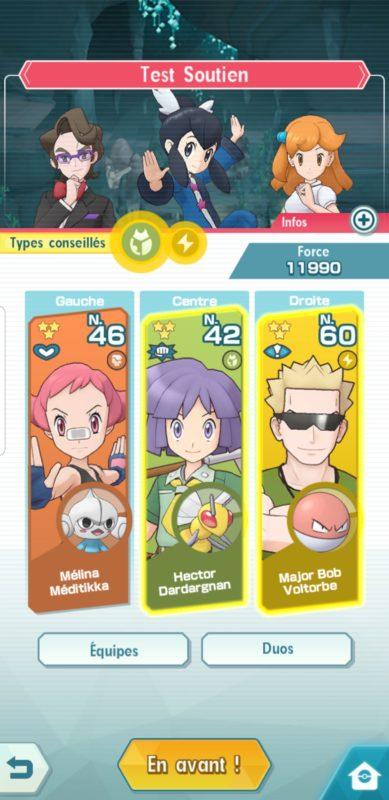 Pokémon Masters - Équipe 2