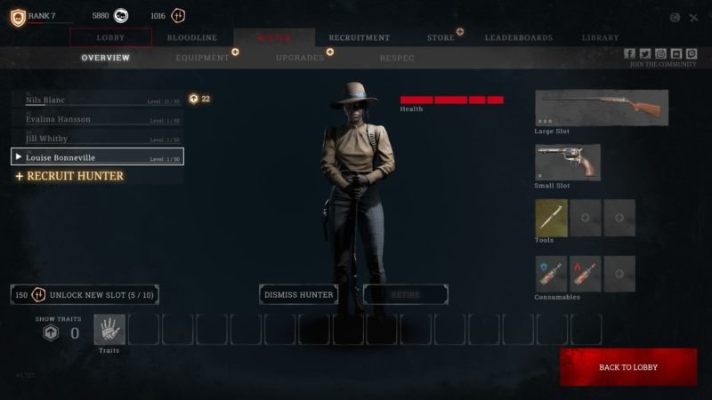 chasseur jouable gameplay hunt showdown test