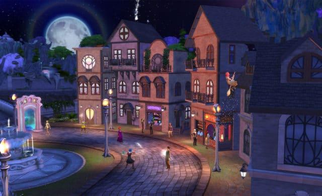 sims 4 pack monde magique ville
