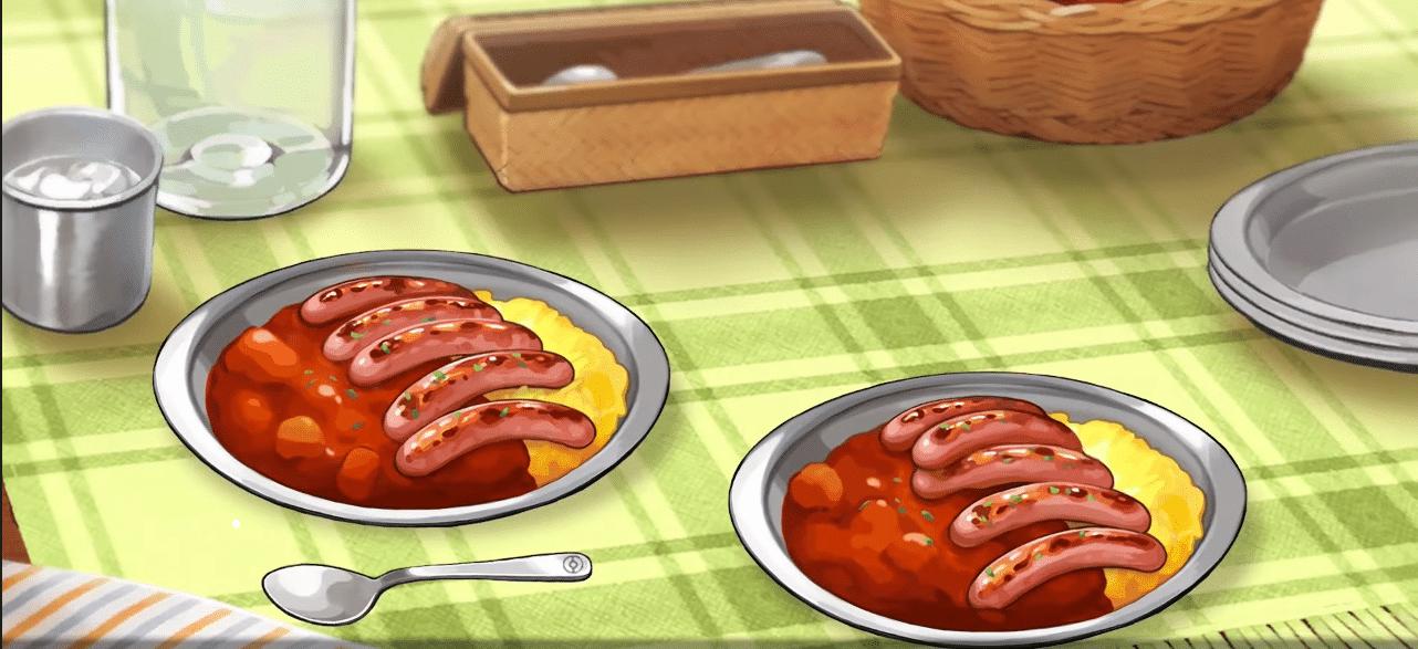 Pokémon épée curry épicé à la saucisse