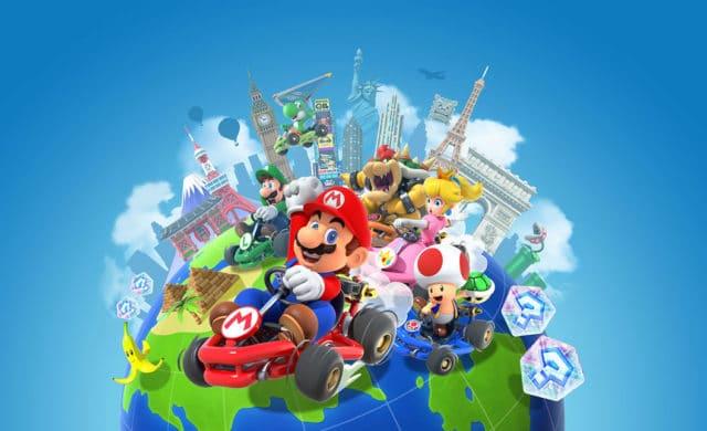 Mario Kart Tour écran de stages