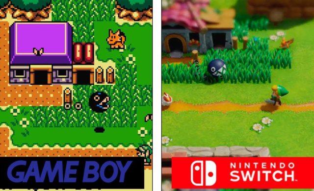 comparaison Link's Awakening GameBoy Switch