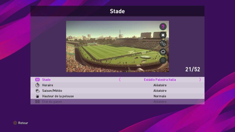 eFootball PES 2020 stade