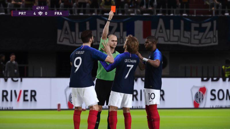 eFootball PES 2020 carton rouge