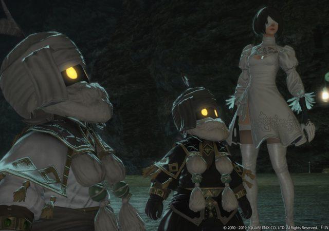 Final Fantasy XIV - Nains et 2B