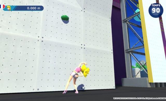 Mario & Sonic aux Jeux Olympiques de Tokyo 2020 - Peach pied du mur