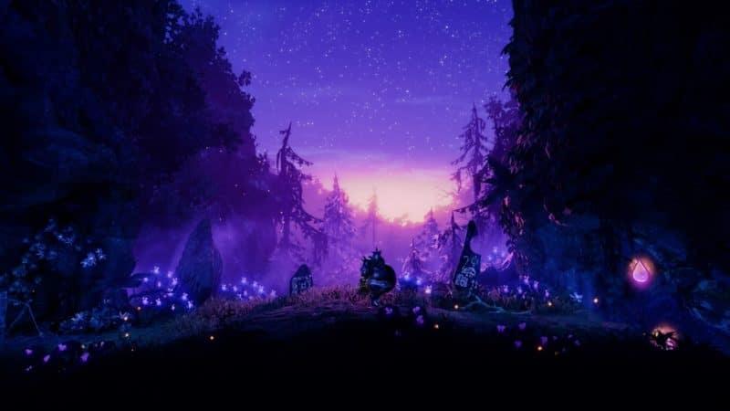 Trine 4: The Nightmare Prince terrain nuit
