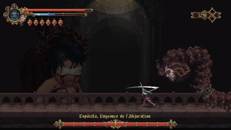 boss blasphemous difficulté ps4 nintendo switch pc