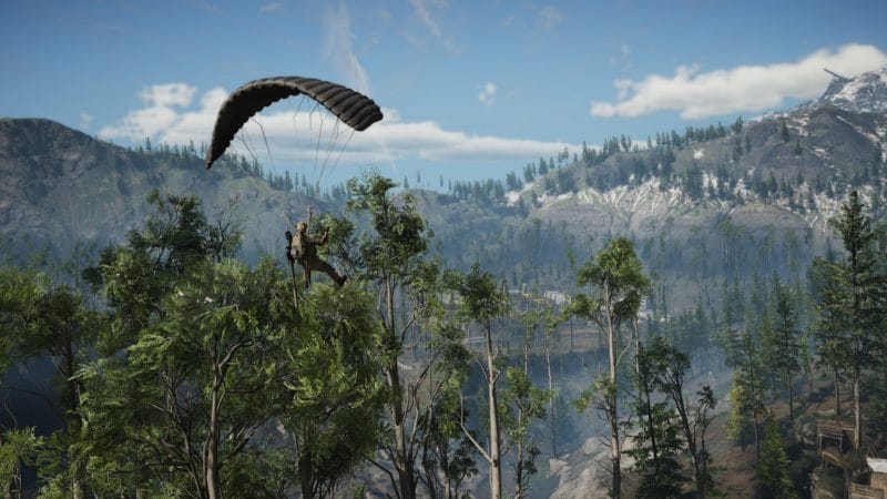 Ghost Recon: Breakpoint parachute