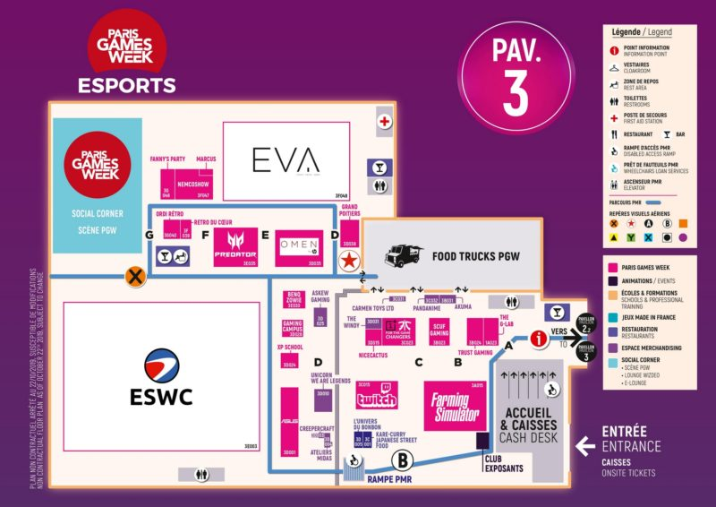 paris games week 2019 - hall esport