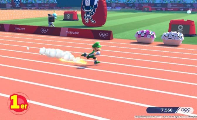 Mario & Sonic aux Jeux Olympiques Tokyo 2020 - Luigi sprint
