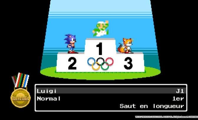 Mario & Sonic aux Jeux Olympiques Tokyo 2020 - Podium 8 bit