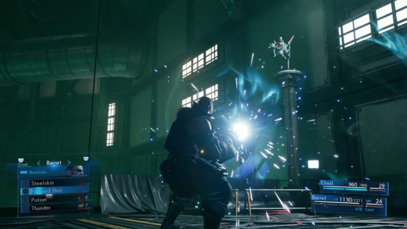 Final Fantasy VII Remake Barrett combat