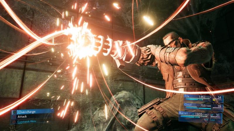 Final Fantasy VII Remake Barett combat 2