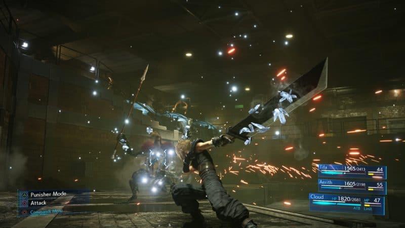 Final Fantasy VII Remake Cloud combat