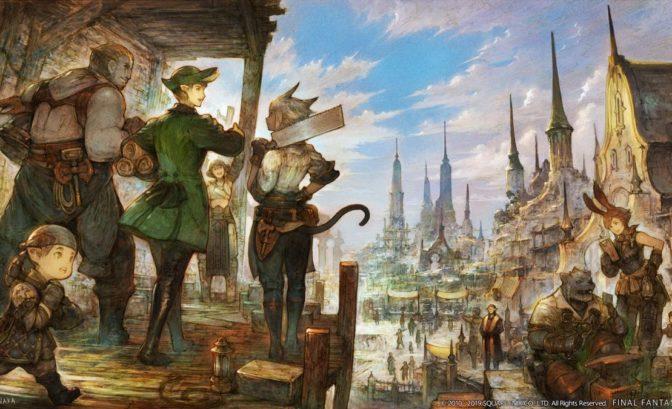 final fantasy XIV shadowbringers restauration ishgard artwork