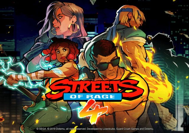 Streets of Rage 4 logo personnages