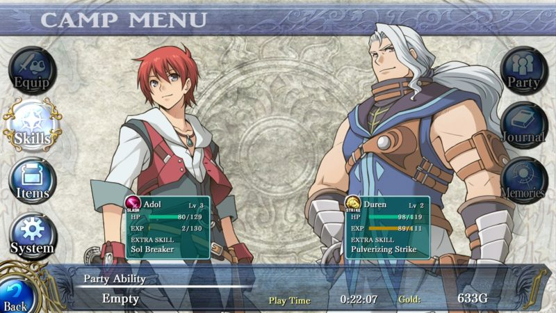 Ys: Memories of Celceta - Personnages