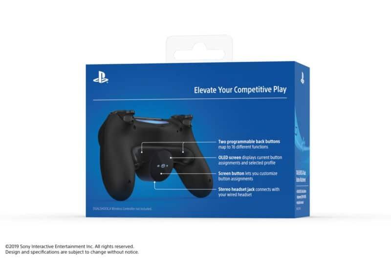PS4 bouton arrière