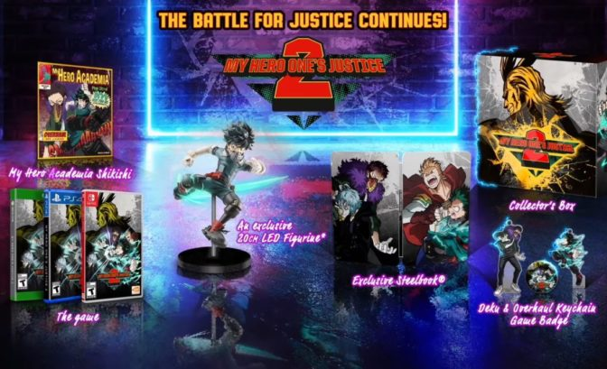 edition collector my hero one's justice 2 switch xbox ps4