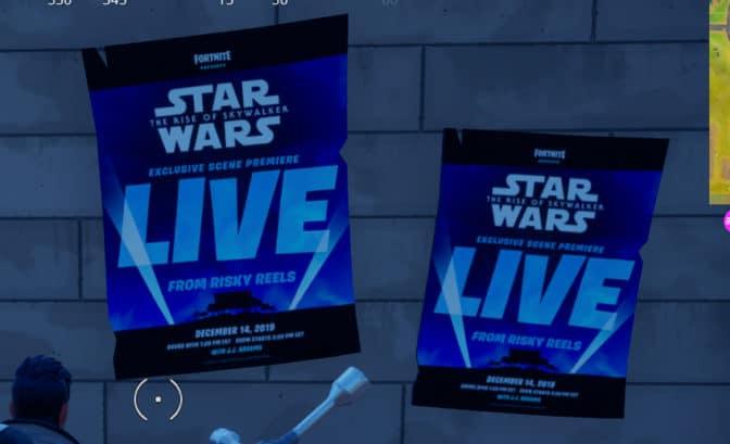 affiches star Wars dans Fortnite