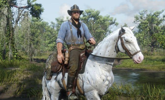 des textures et couleurs inhabituelles pour un cheval sur red dead redemption 2