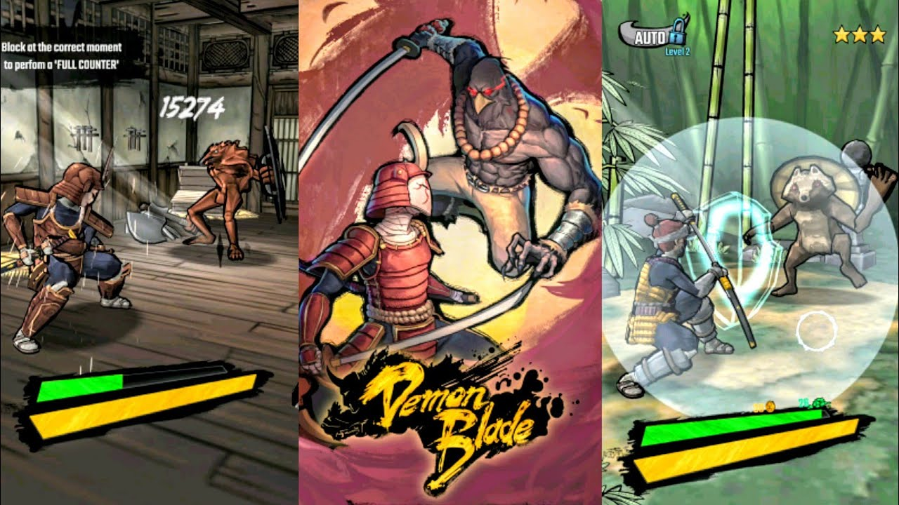 Demon Blade écrans de combat