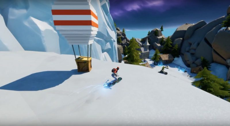 Fortnite Liferun snowboarding