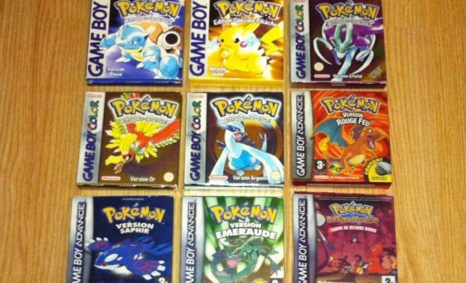 cartouches gba pokemon game boy remake