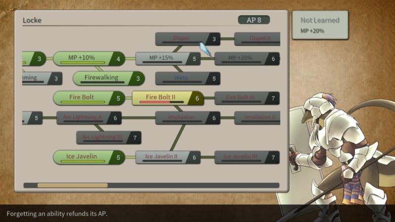 Magic Scroll Tactics - Arbre de compétences