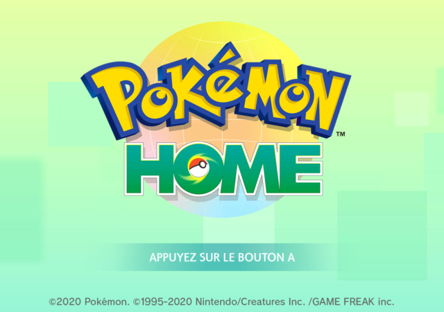 Pokémon Home - Ecran titre Switch