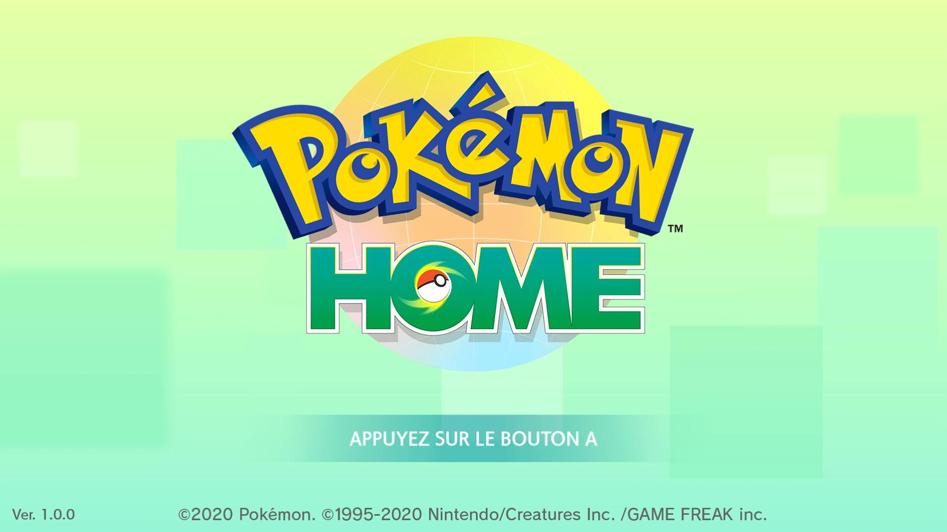 Pokémon Home - Ecran titre Switch