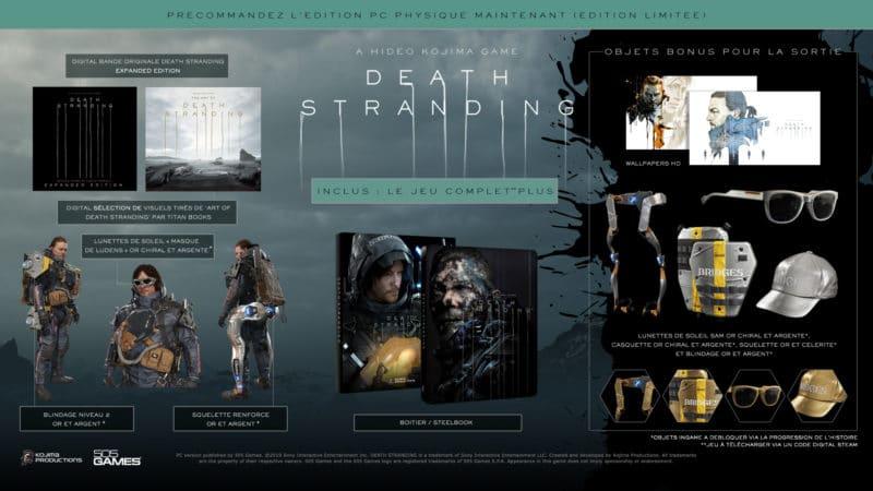 Edition limitée du jeu Death Stranding sur PC