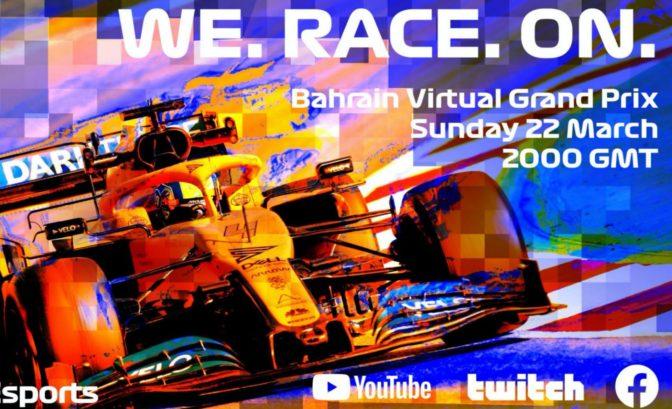 affiche pour le Bahrain Virtual Grand Prix