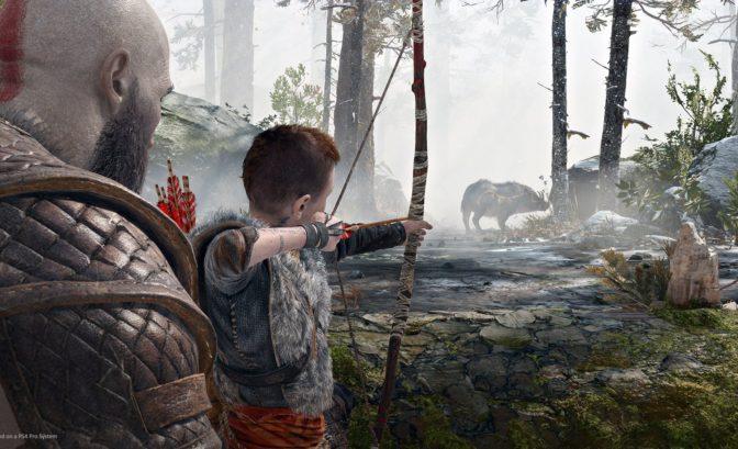 God of War - Atreus s'entraine à la chasse