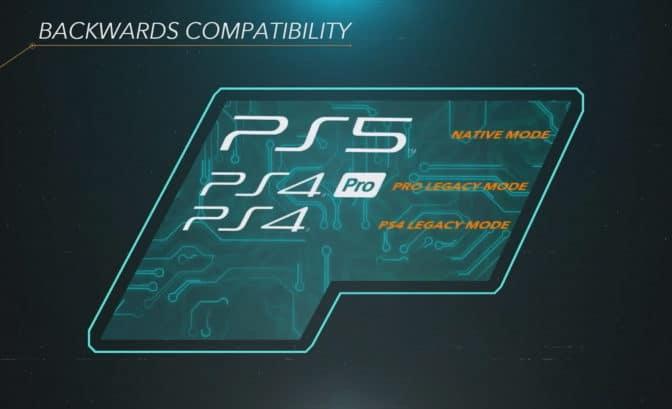 PlayStaiton 5 shema retro compatibilité