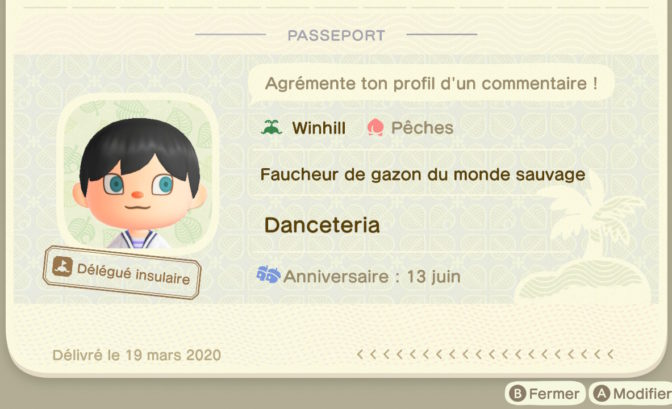 Animal Crossing: New Horizons - Passeport