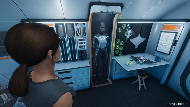Beyond Blue - salle d'équipement à bord du sous-marin