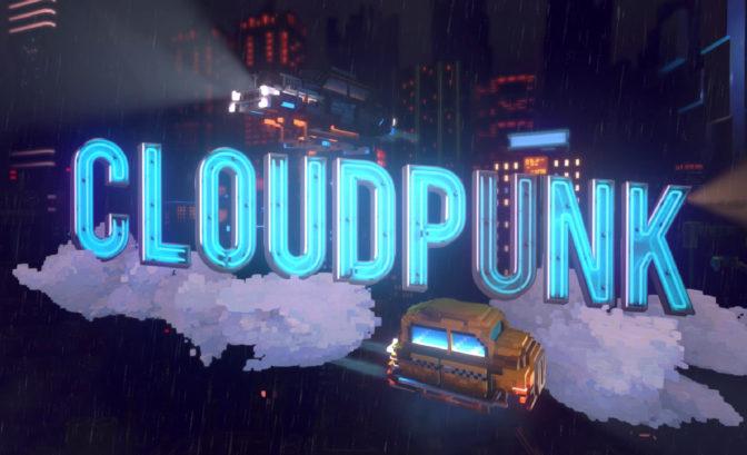 Cloudpunk titre écran démarrage