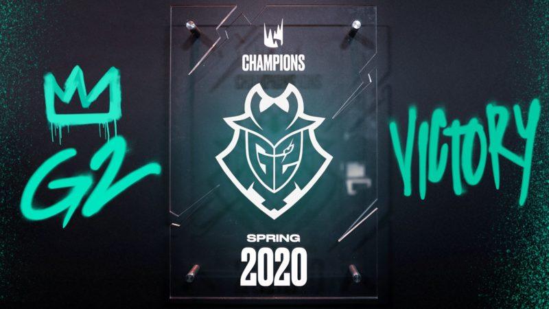 G2 Champion du Spring Split 2020