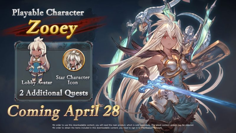 Granblue Fantasy Versus - Zooey contenu