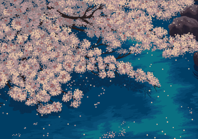 Jeu Vidéo - Pixel Art Sakura