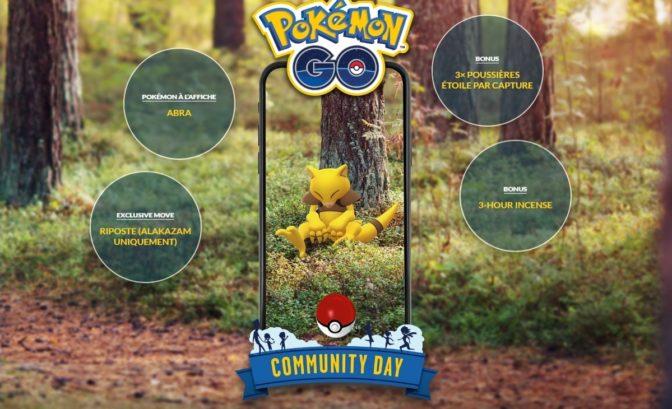 Pokémon GO - Journée de la Communauté Abra détails