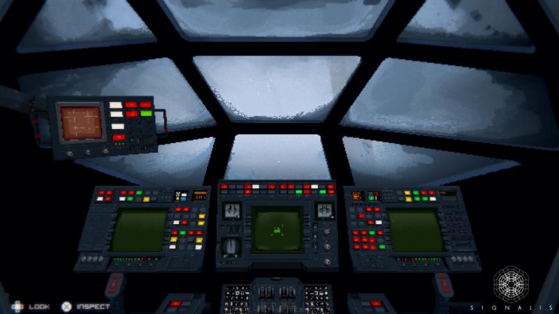 Signalis - cockpit du vaisseau